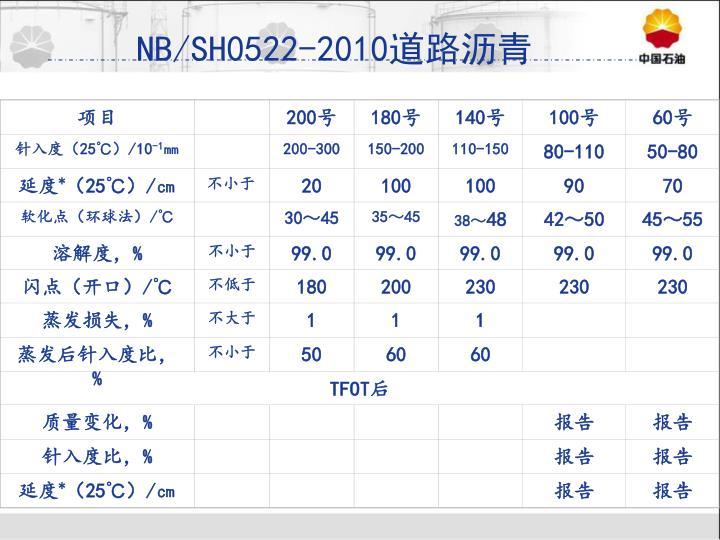NB/SH0522-2010