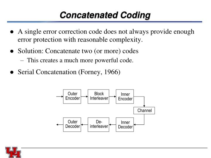 Concatenated Coding
