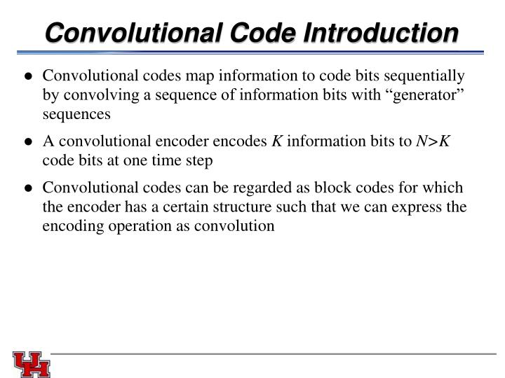 Convolutional Code Introduction