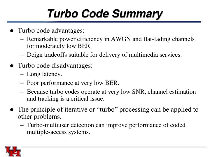 Turbo Code Summary