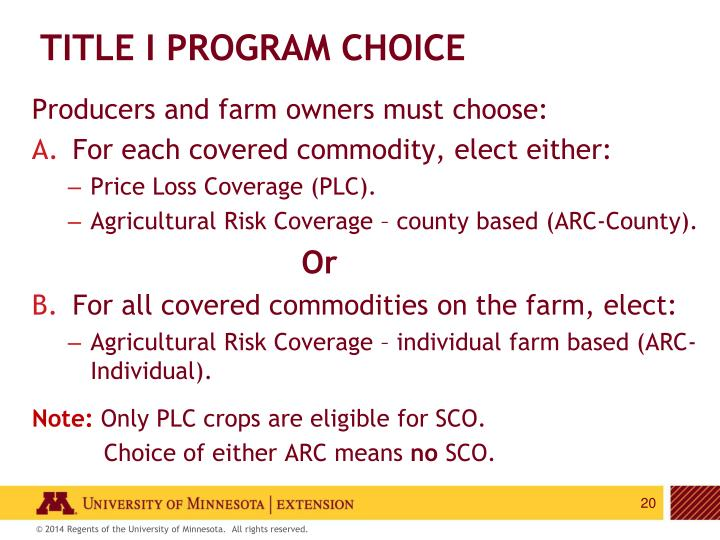 Title I Program Choice