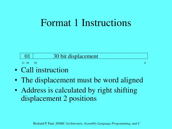 Format 1 Instructions