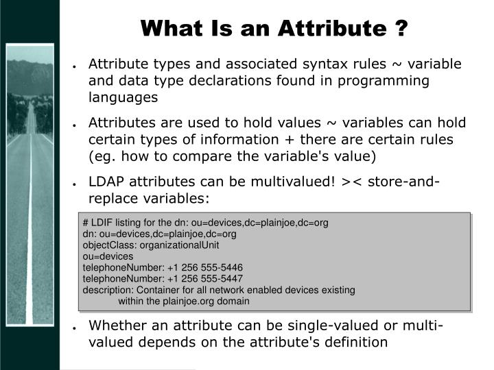 What Is an Attribute ?