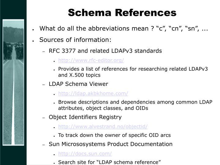 Schema References