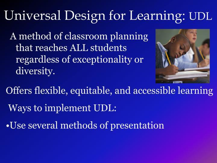 Universal Design for Learning: