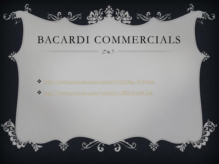 Bacardi commercials