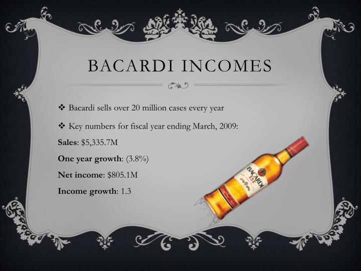 Bacardi incomes