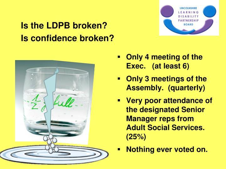 Is the LDPB broken?
