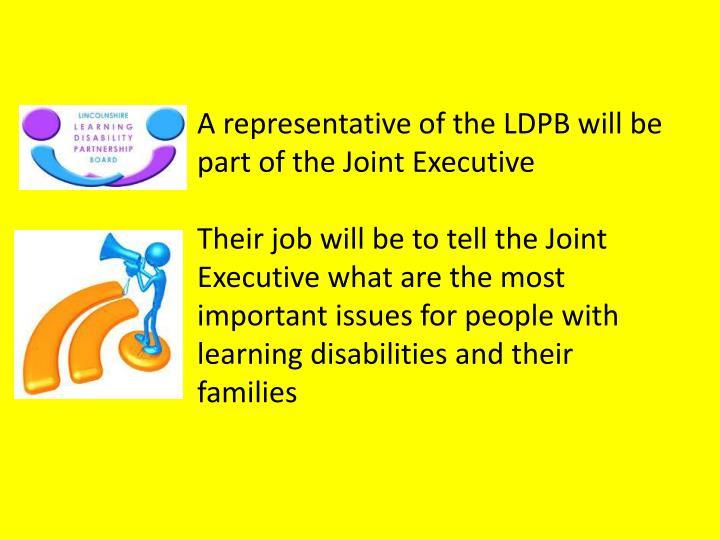 A representative of the LDPB will be part of the Joint Executive