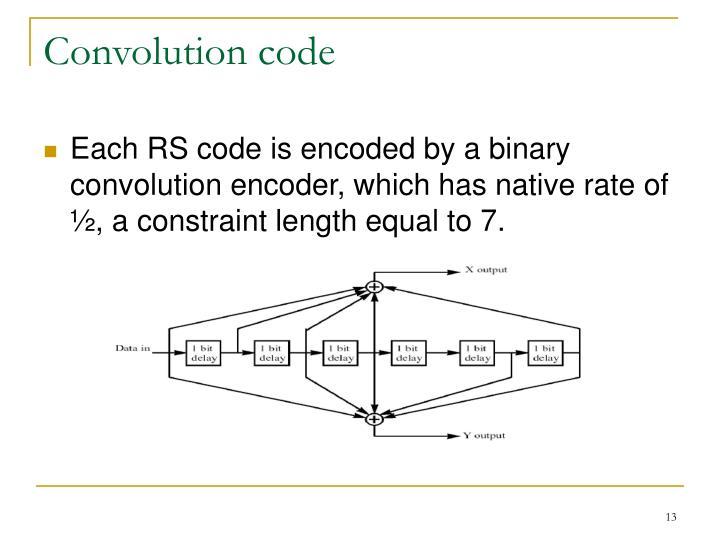 Convolution code