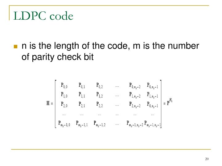 LDPC code