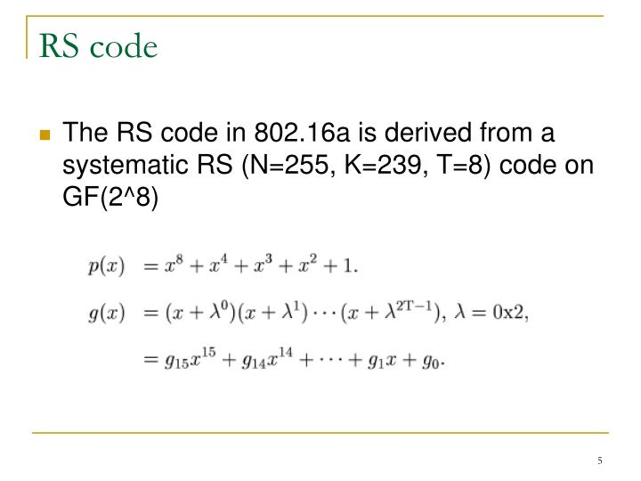 RS code