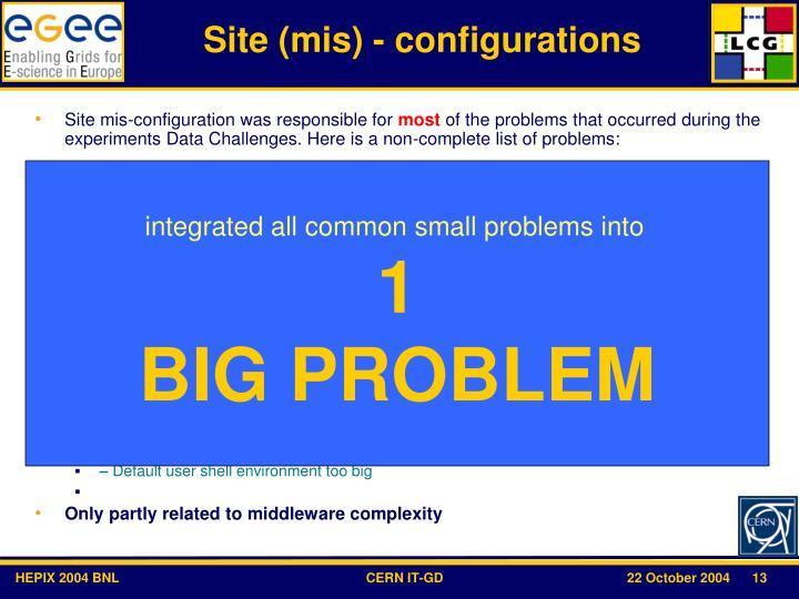 Site (mis) - configurations