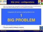 site mis configurations