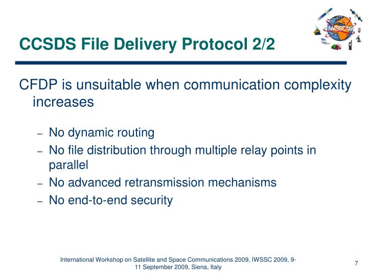 CCSDS File Delivery Protocol 2/2