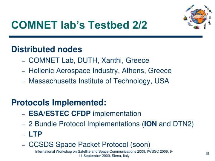 COMNET lab's Testbed 2/2