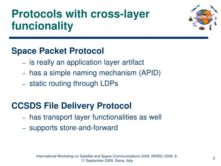 Protocols with cross-layer funcionality