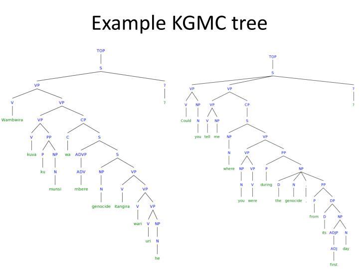 Example KGMC tree