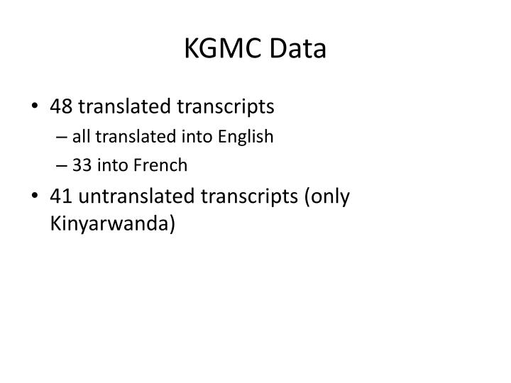 KGMC Data
