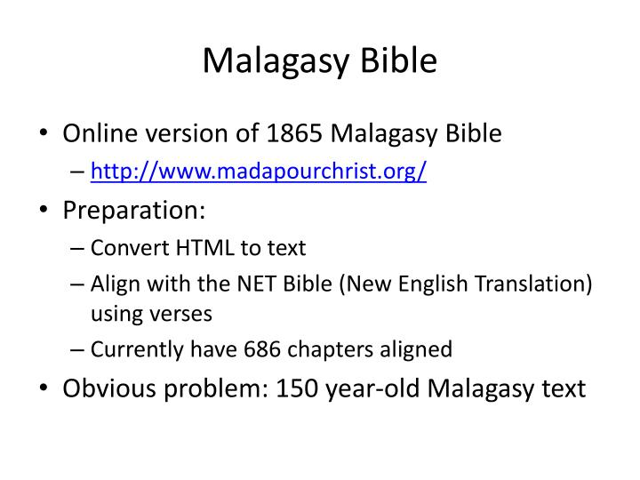 Malagasy Bible