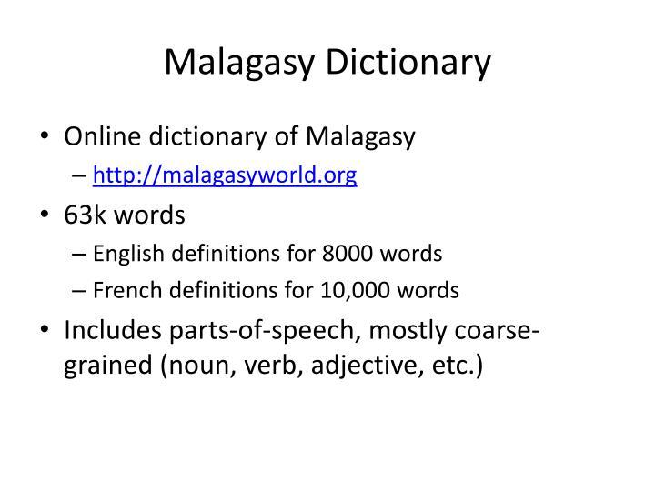 Malagasy Dictionary