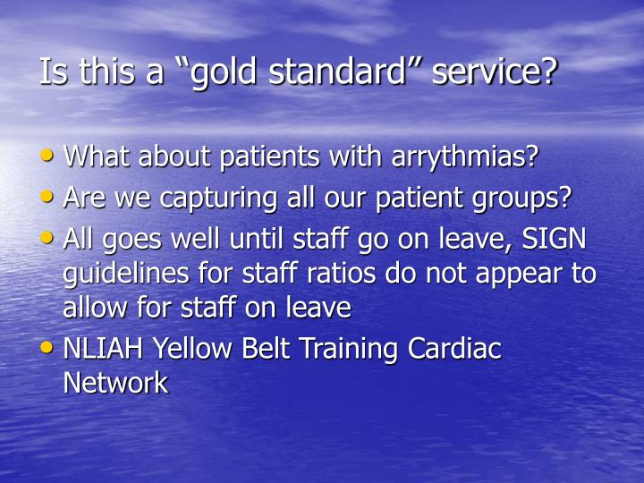 "Is this a ""gold standard"" service?"