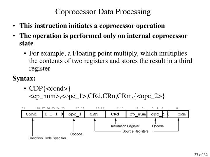 Coprocessor Data Processing
