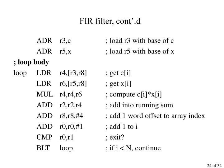 FIR filter, cont'.d