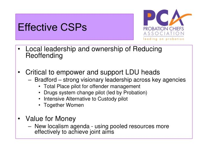 Effective CSPs