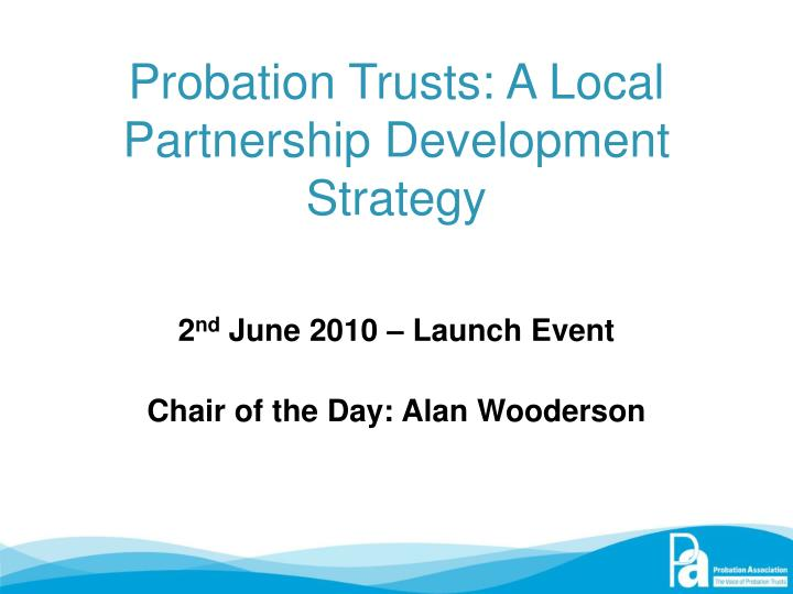 Probation trusts a local partnership development strategy
