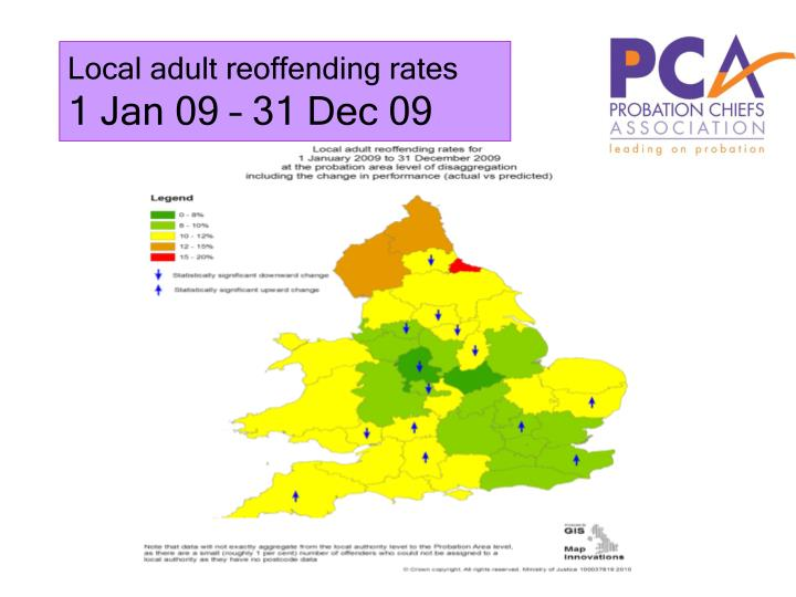 Local adult reoffending rates