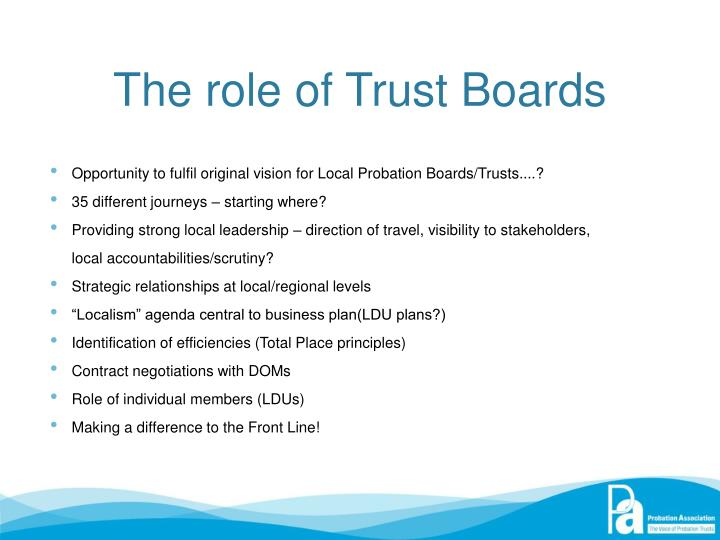 The role of Trust Boards