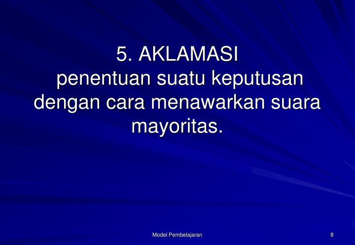 5. AKLAMASI