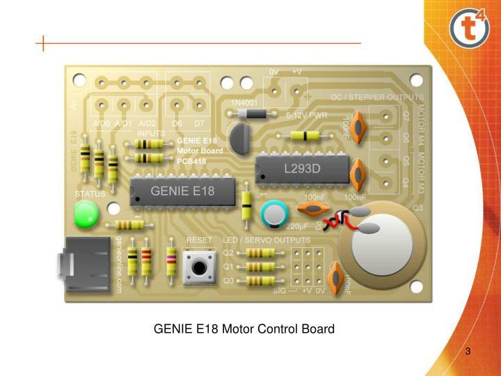 GENIE E18 Motor Control Board