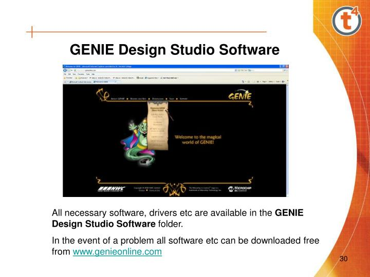 GENIE Design Studio Software