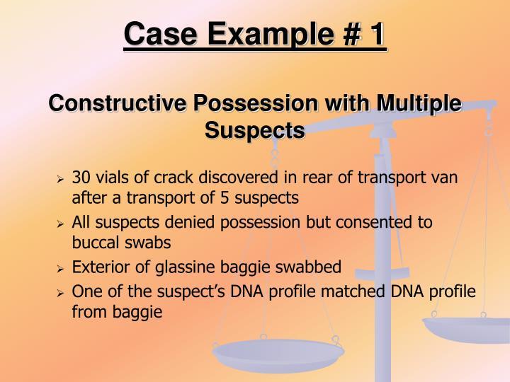Case Example # 1