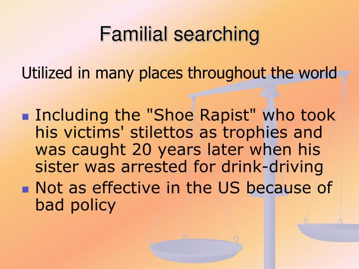 Familial searching