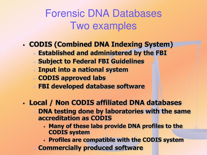 Forensic DNA Databases
