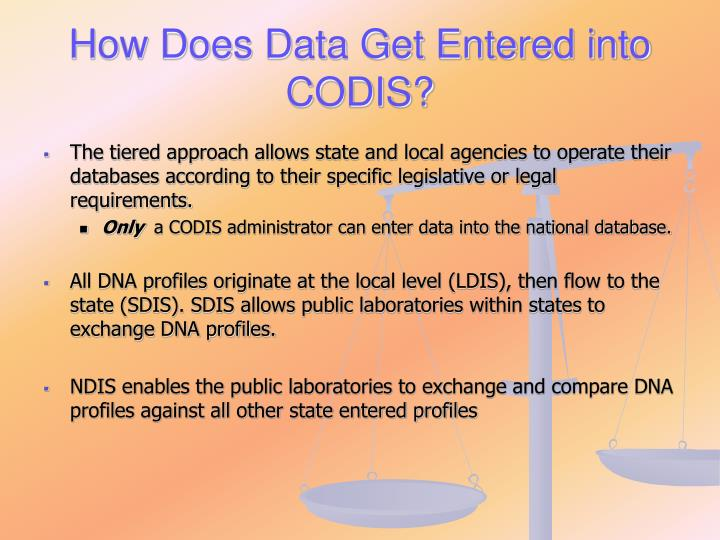 How Does Data Get Entered into CODIS?