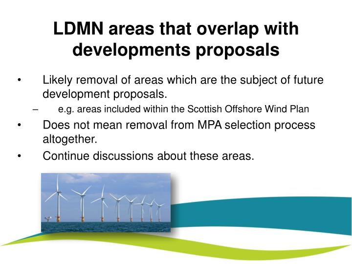 LDMN areas that overlap with developments proposals