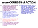 more courses of action