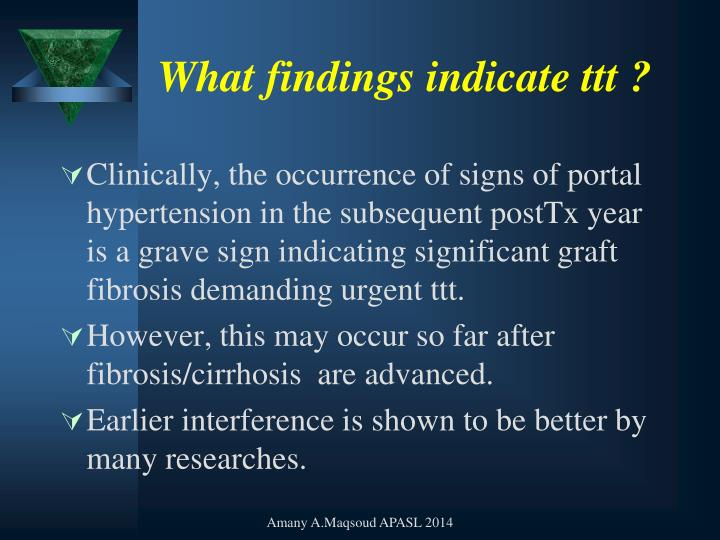 What findings indicate
