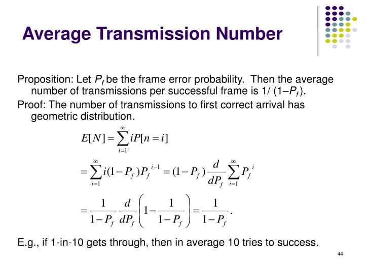Average Transmission Number