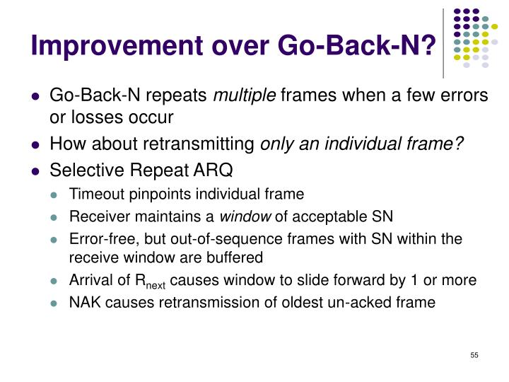 Improvement over Go-Back-N?