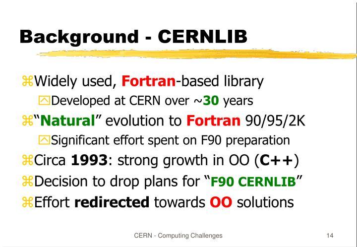 Background - CERNLIB