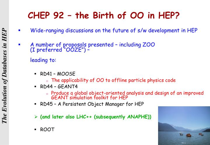 CHEP 92 – the Birth of OO in HEP?
