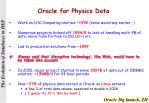 oracle for physics data