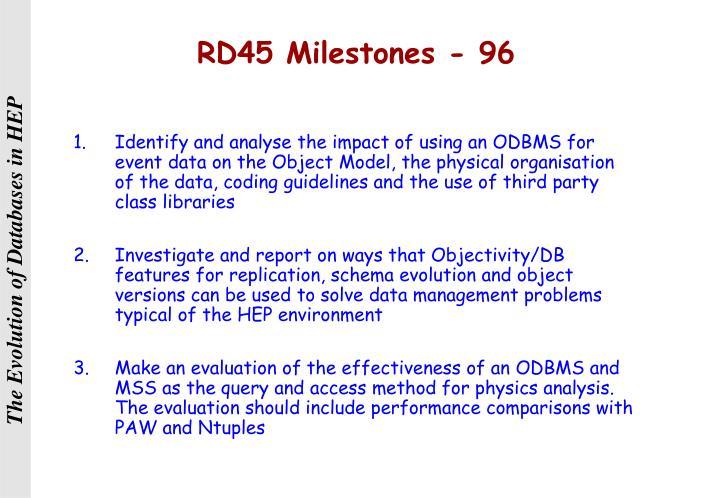 RD45 Milestones - 96