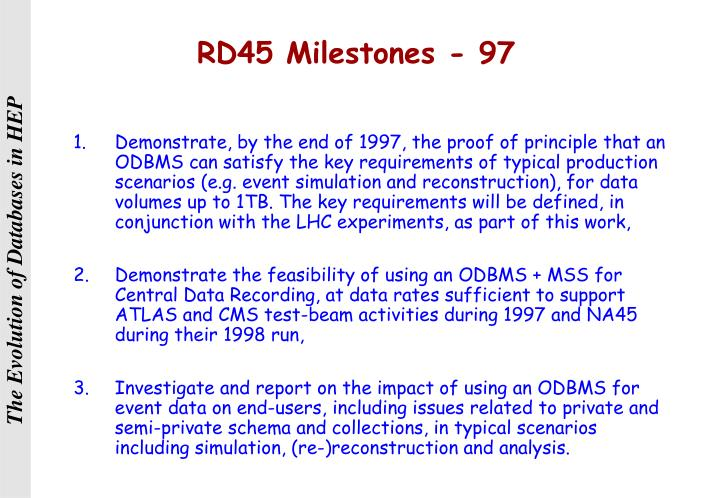 RD45 Milestones - 97