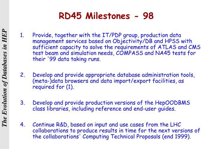 RD45 Milestones - 98